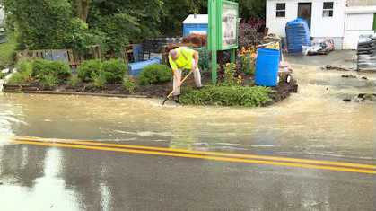 Flash flooding in Erlanger closes roads, causes sewer backups